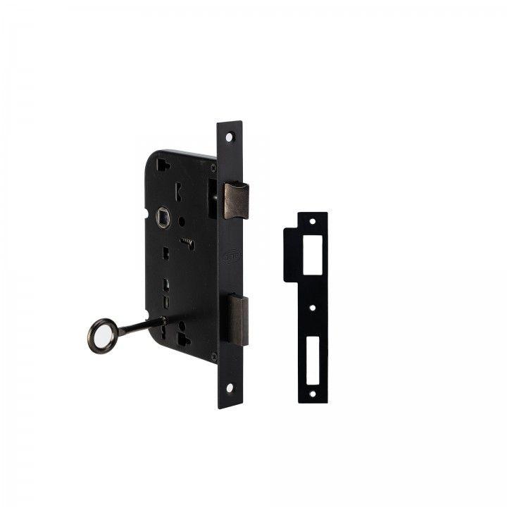 Mortise door lock with normal key - 60/68mm
