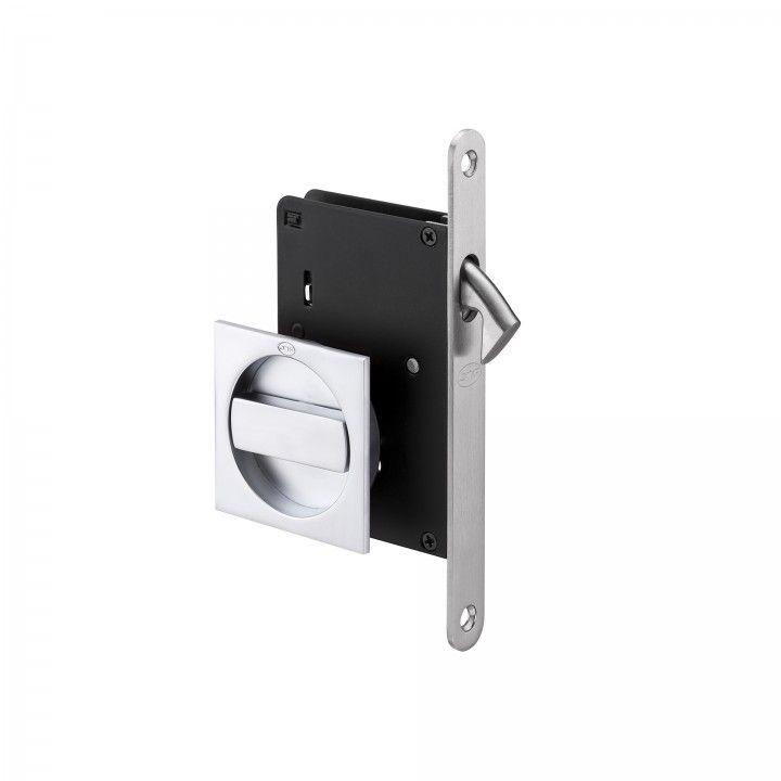 Mortise door lock for sliding doors - Matte chrome plated