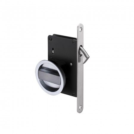 Mortise door lock for sliding doors - Matte chrome plated