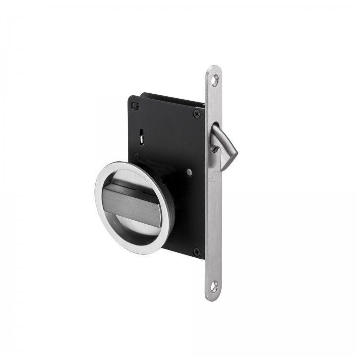Mortise door lock for sliding doors - Satin niquel