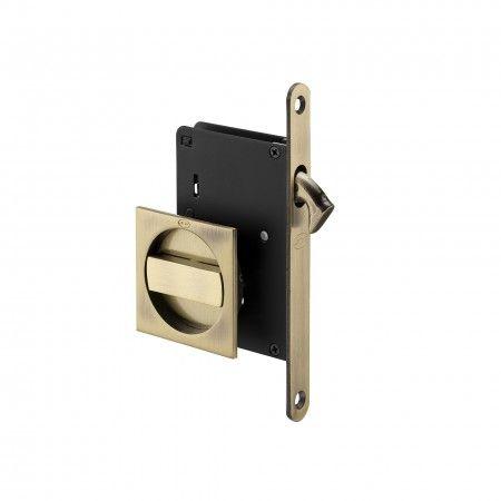 Cerradura para puertas correderas - Bronce