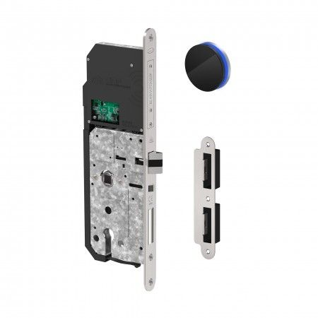 Motorized electronic lock with reader Fireproof / Anti-Panic function - Right