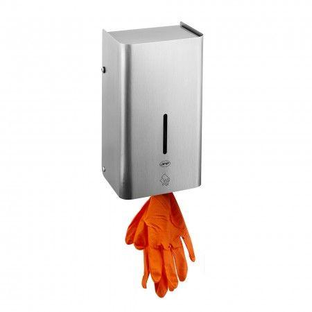Wall dispenser for disposable rubber gloves