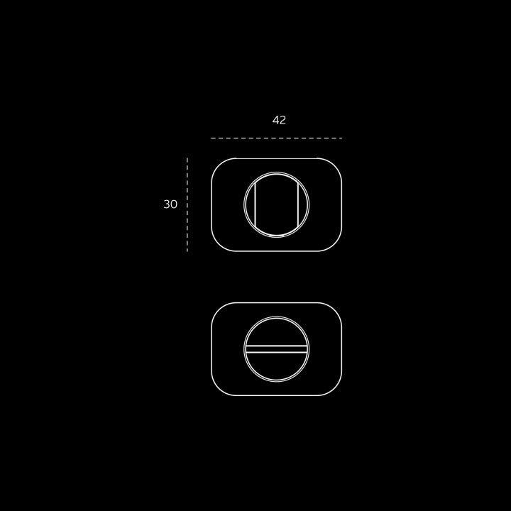 Fecho de WC 'OSAKA'  - Titanium Gold