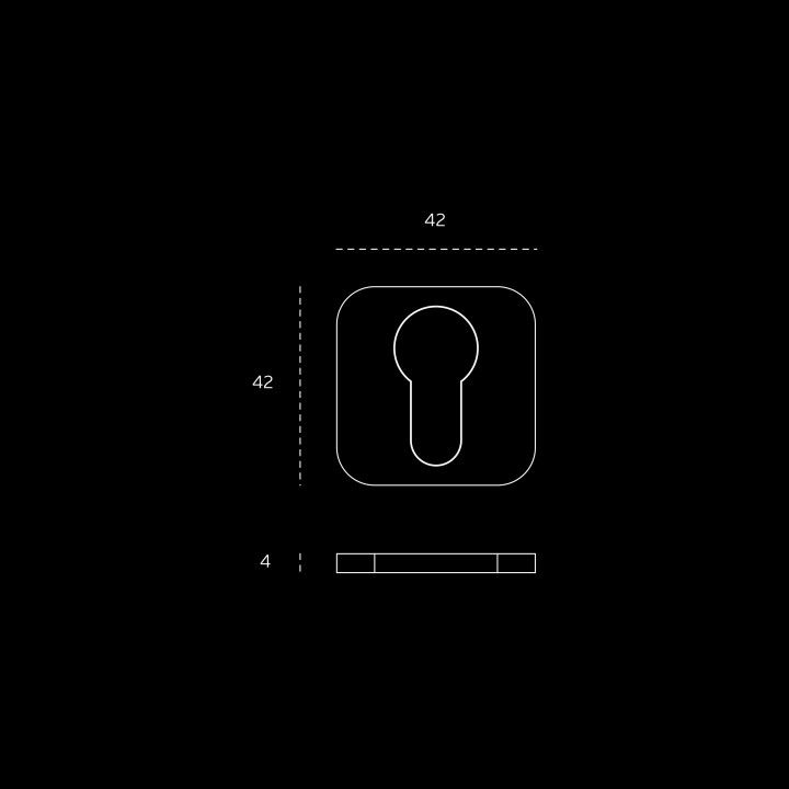 Entrada de chave metálica para cilindro europeu 'OSAKA' - Titanium Black