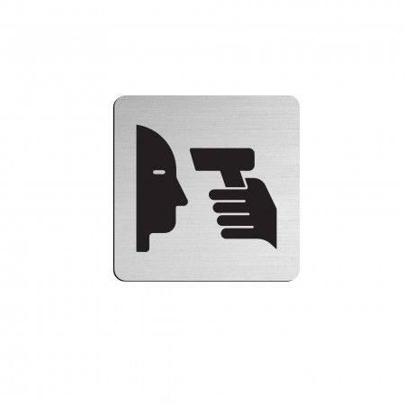 Pictogram 75 x 75mm with strong adhesive fixing