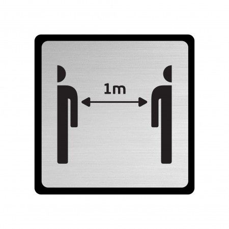 Simple plate 165x165mm - Pictogram with ABS support and concealed fixing