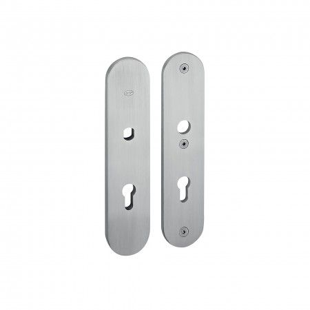 Safety plate with fixed knob - 250 x 55mm