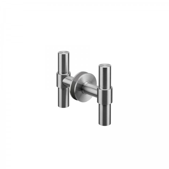 Lever handle for glass