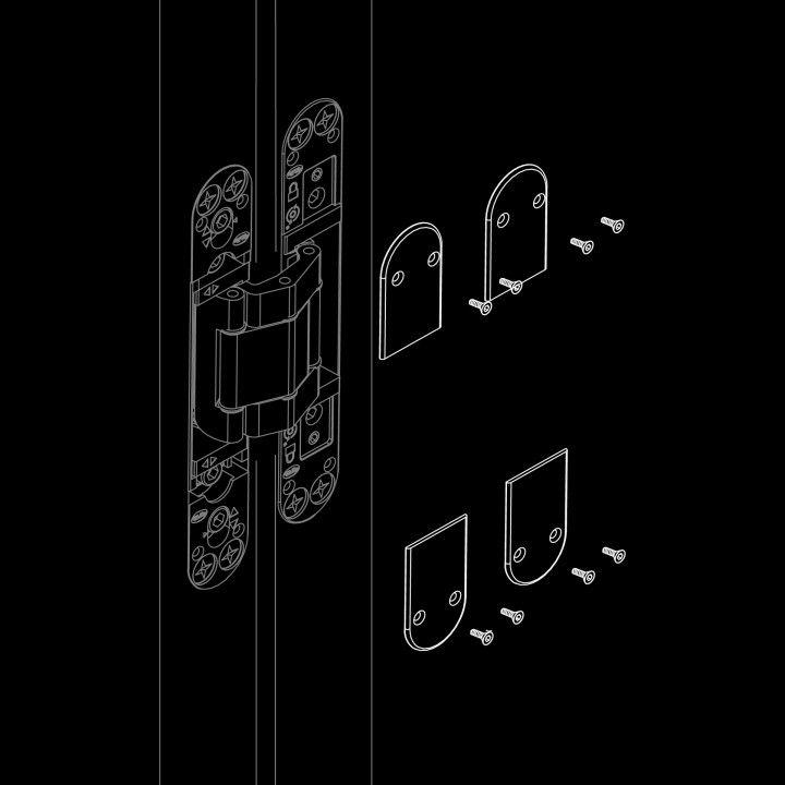 Tampas decorativas em aço inox - Titanium Black