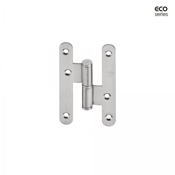 Dobradiça com cantos redondos - Eco series - 59 x 100 x 2,5mm - ESQUERDA