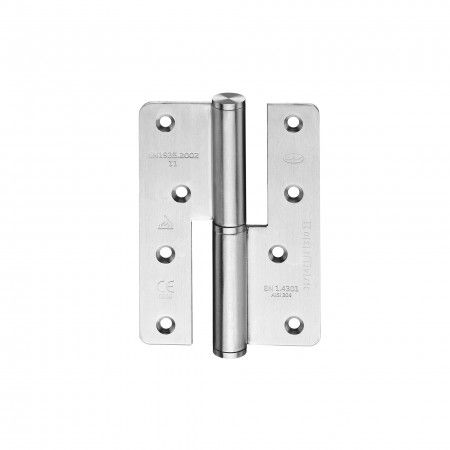Lift off hinge - Fire proof - 86 x 120 x 3mm - RIGHT