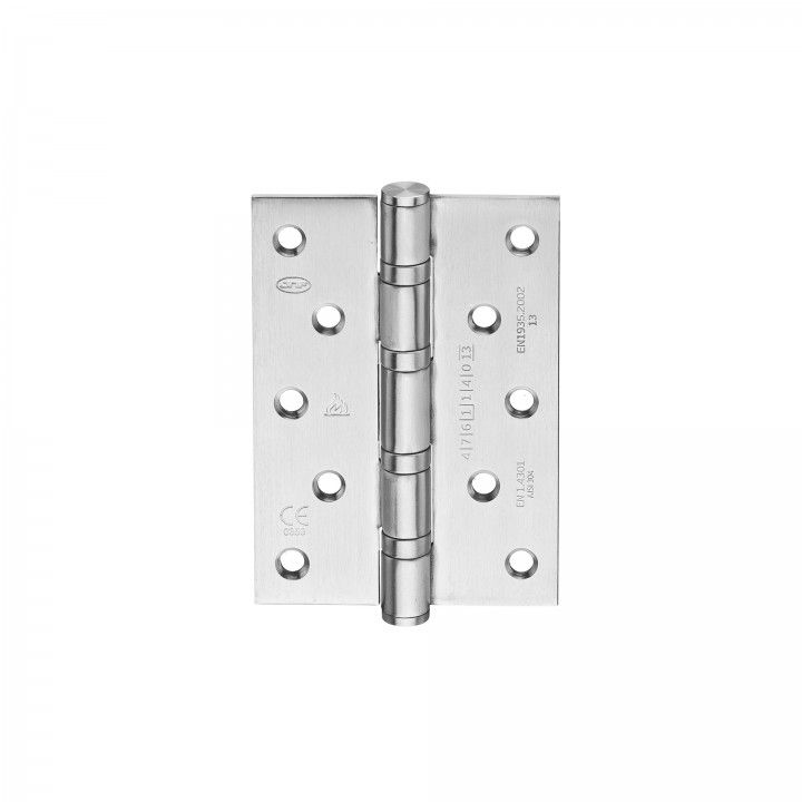 Safety hinge with four ball bearings - Fire proof - 90 x 125 x 3mm