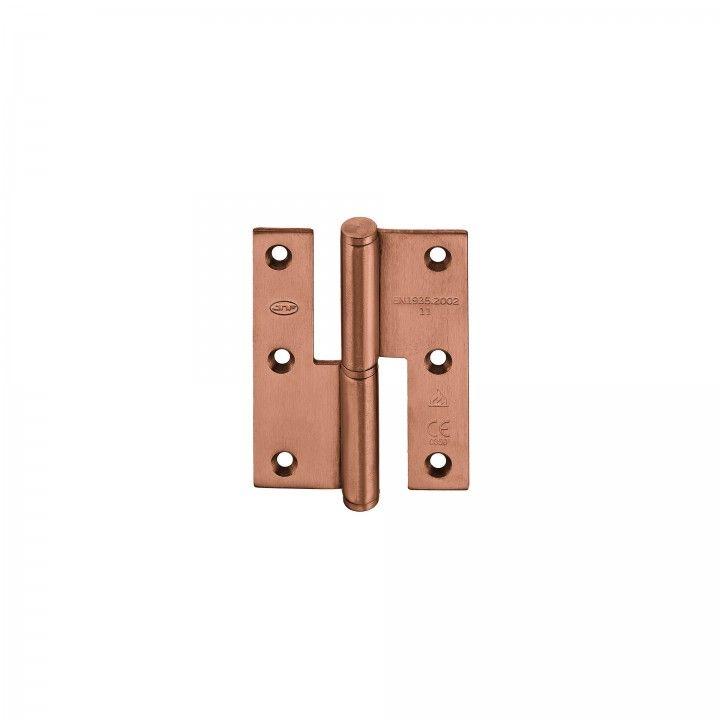"""Dobradiça de meio balanço - Eco series -70 x 90 x 2,5mm """"Copper"""