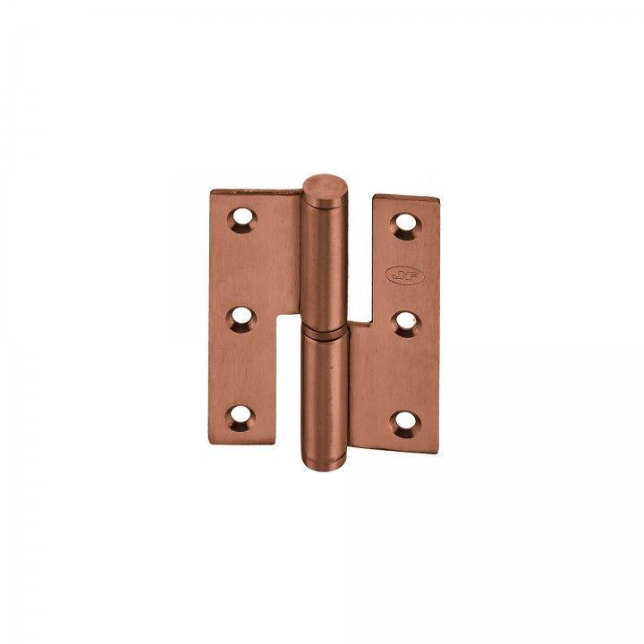 """Dobradiça de meio balanço - Eco series - 60 x 75 x 2,5mm """"Copper Coated"""""""