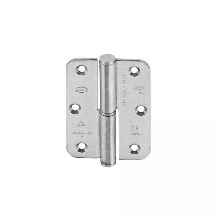 Hinge with round corners - Eco series - 65 x 90 x 2,5mm