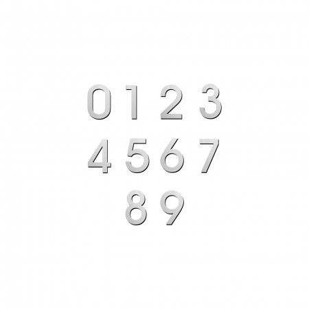 Number with 100mm, concealed fixing through strong adhesive
