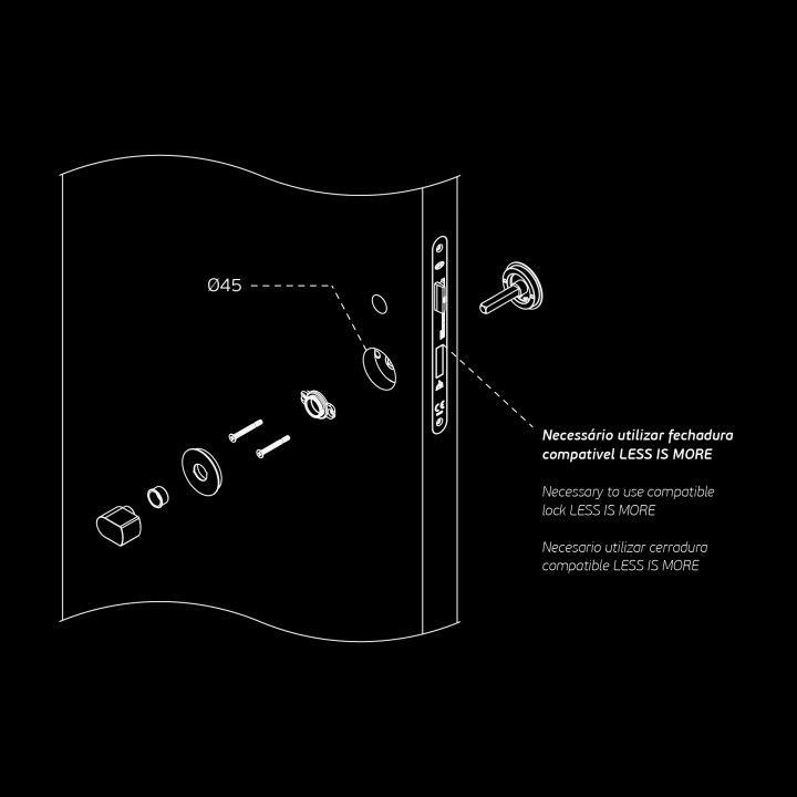 "Fecho casa de banho ""Less is more"" - 35-44mm - Titanium Black"