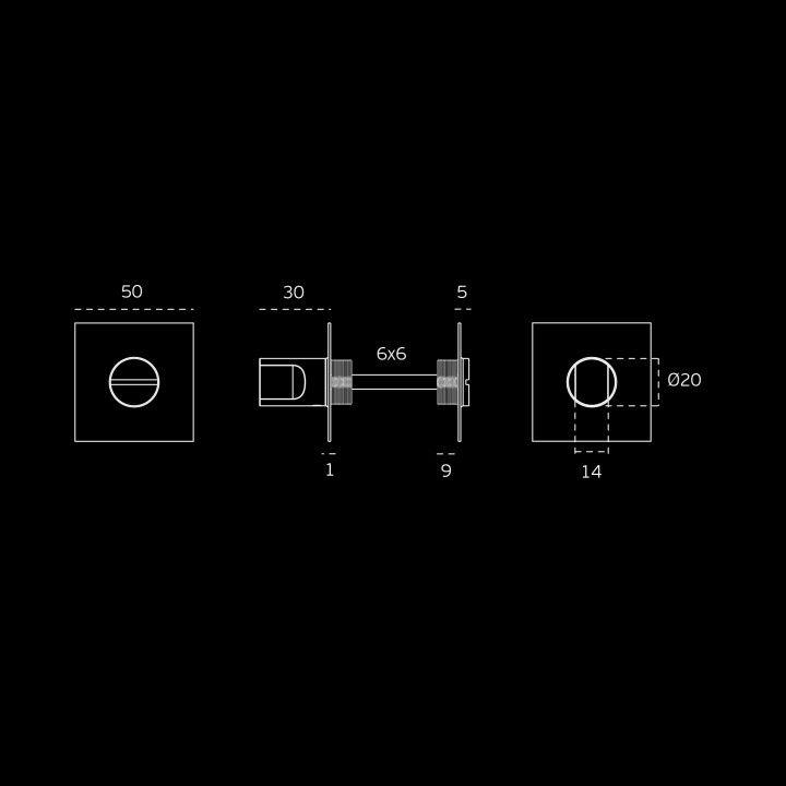 Bathroom snib indicator Less is More 2  - Titanium Black