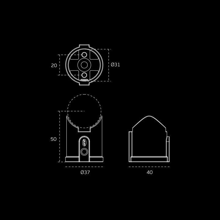 Connector (Raw +Titanium Black)