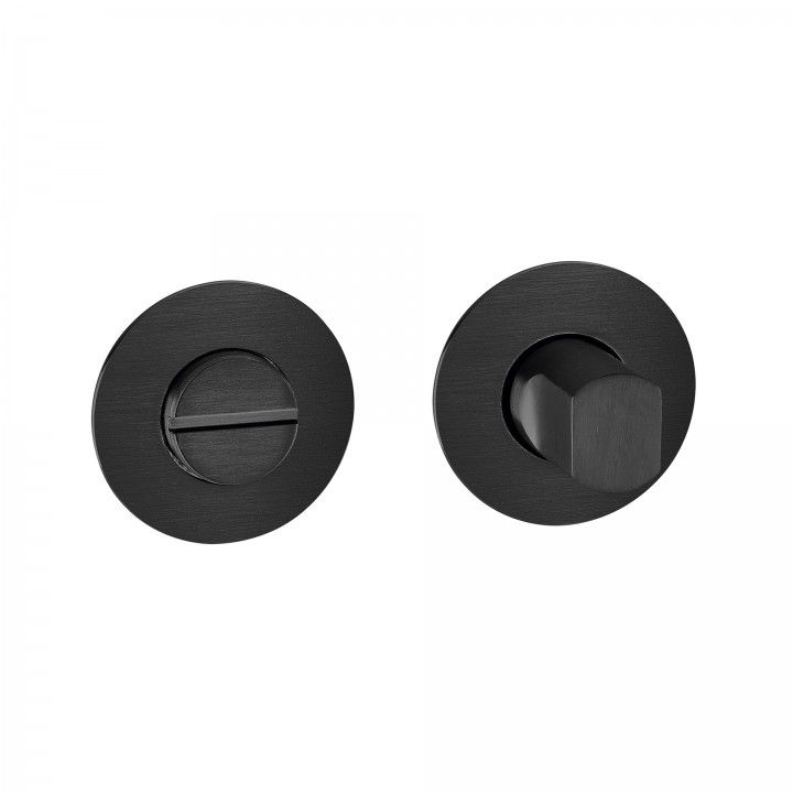 Bathroom lock without color indicator LESS IS MORE 2 - Titanium Black