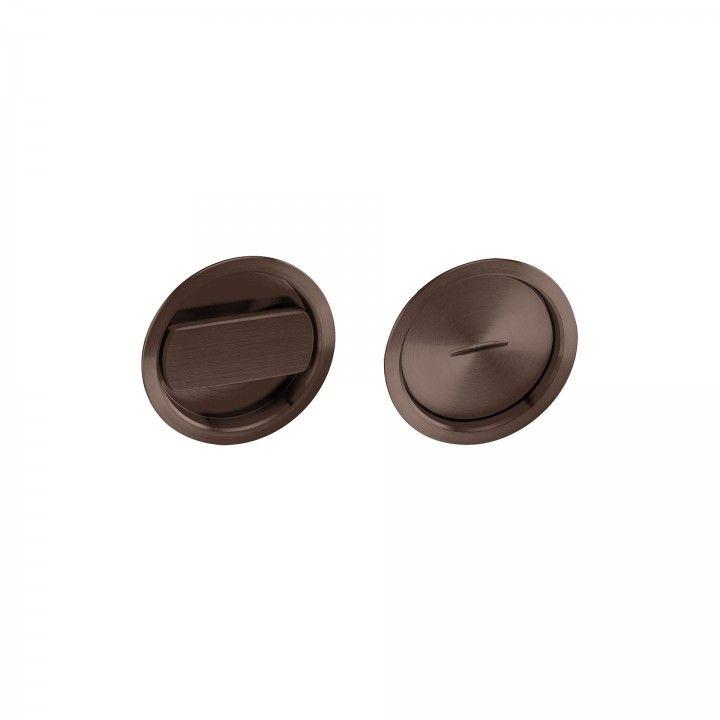Fecho de casa de banho de embutir - Titanium Chocolate