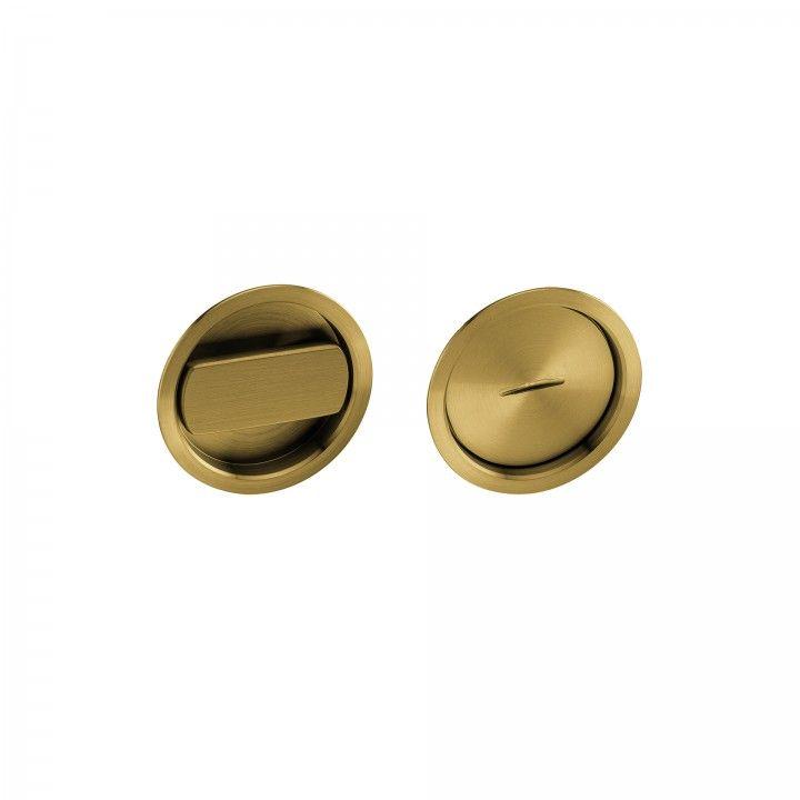 Fecho de casa de banho de embutir - Titanium Gold