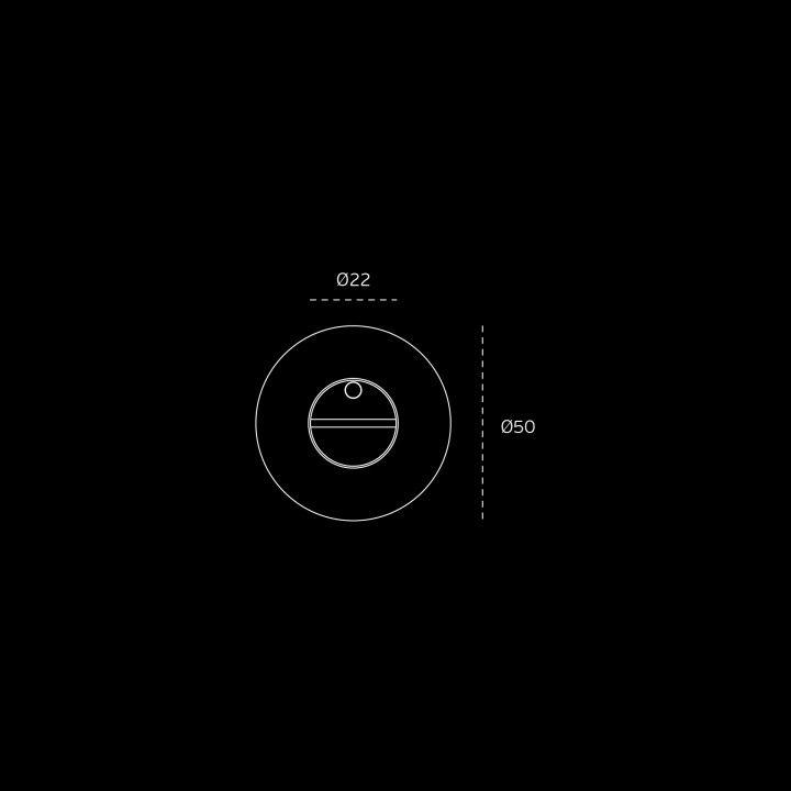 Bathroom snib indicator without color indication  - Titanium Black