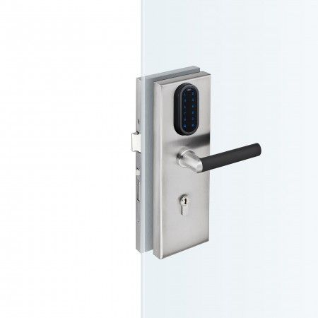 Set of electronic lock for glass doors