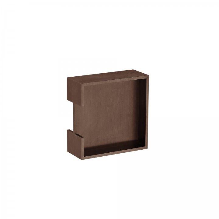 Square Flush handle -  Titanium Chocolate