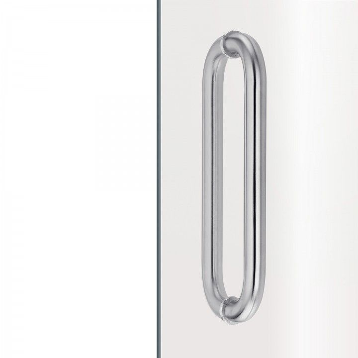 Pull handle for glass doors - Ø25mm - 300mm
