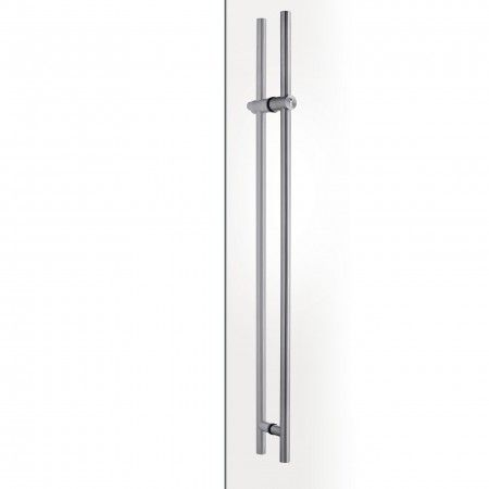 Pull handle with lock for glass doors - with cylinder JNF