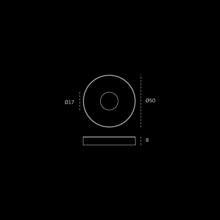 Manilla de puerta Timeless - Ø16mm