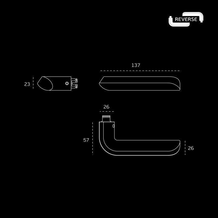 Puxador de porta 'REVERSE' - TITANIUM BLACK