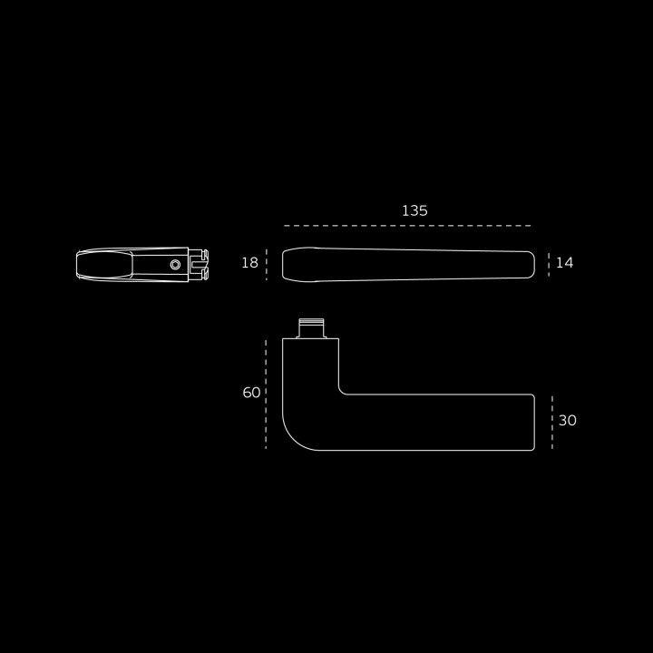 Manilla de puerta - Titanium Black