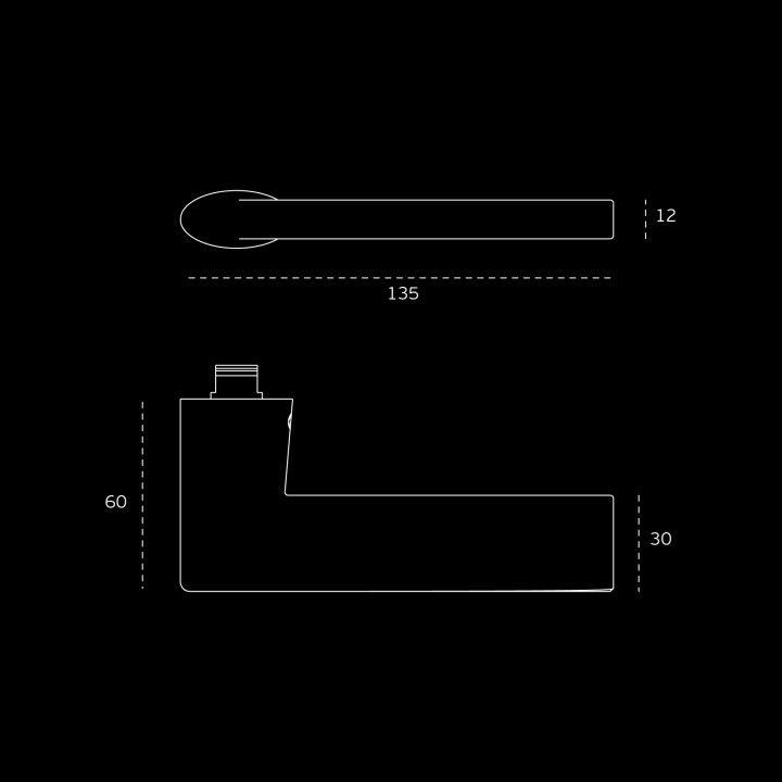 Lever handle  - Titanium Gold