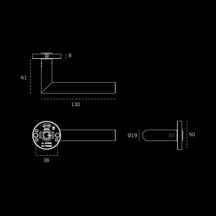 Lever handle FREELINE, with nylon rose RC08N