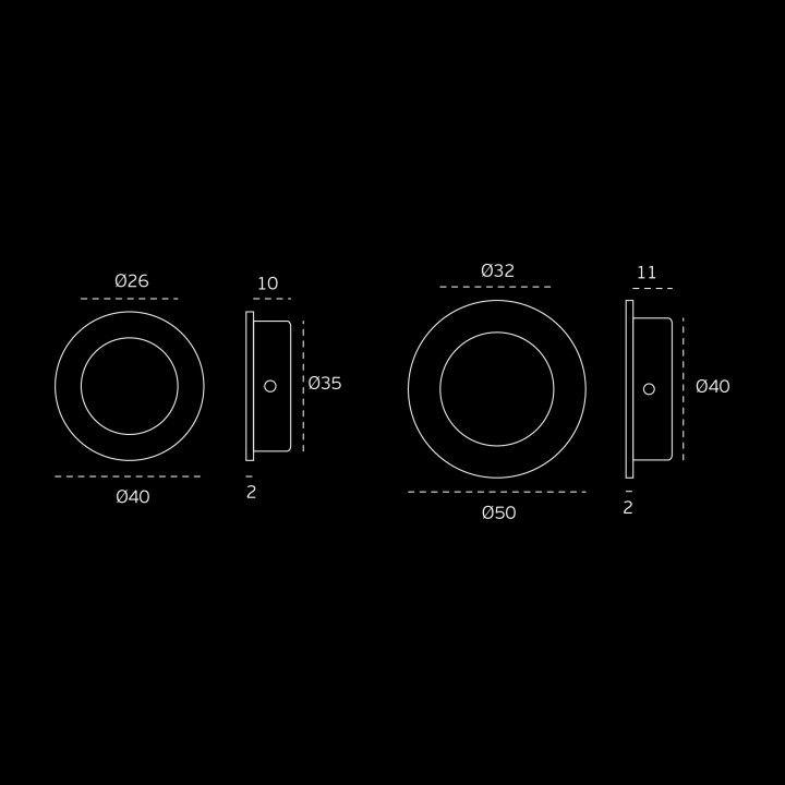 Round Flush handle - Titanium Black