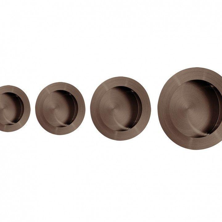 Round Flush handle  - Titanium Chocolate