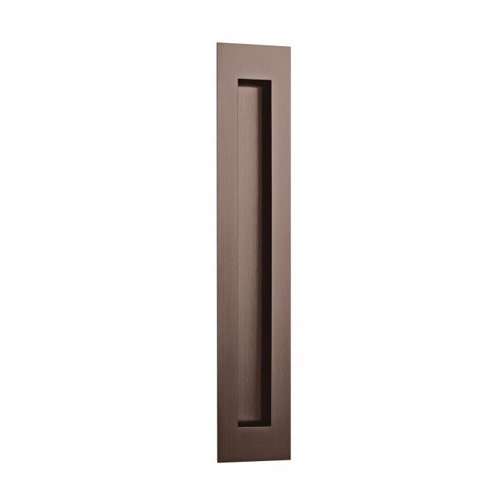 Rectangular Flush handle - 300x55mm - Titanium Chocolate