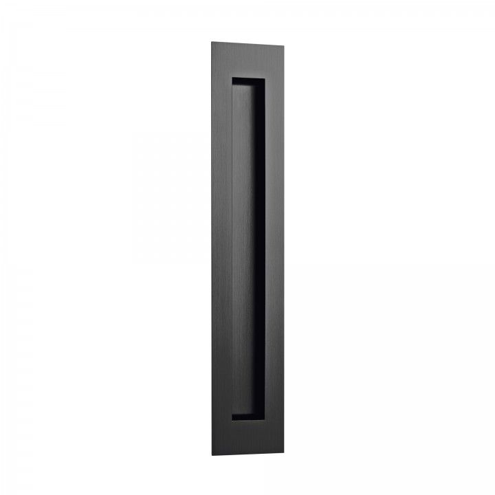 Rectangular Flush handle - 300x55mm - Titanium Black