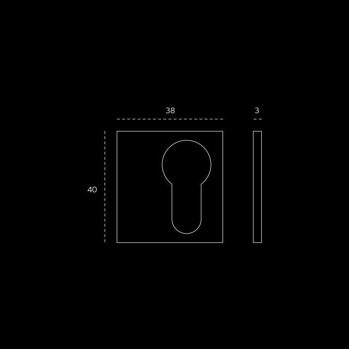Entrada de chave para cilindro europeu SLIM - Titanium Black