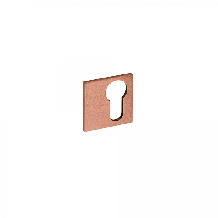 Metallic key hole for european cylinder Slim - Titanium Copper