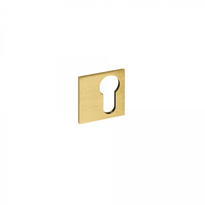 Key hole for european cylinder SLIM - Titanium Gold