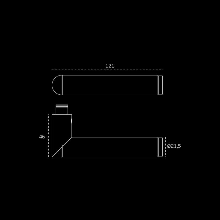 Lever handle  LINK BRASS - Titanium Black