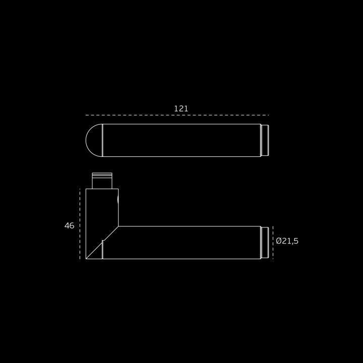 Lever handle  LINK BRASS - Titanium Chocolate