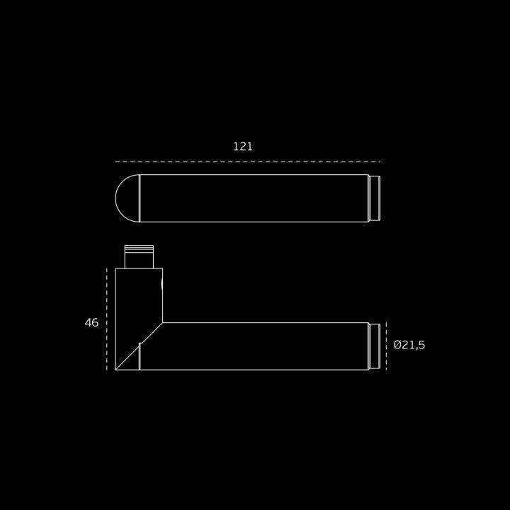 Manilla de puerta Link Copper con roseta metalica RC08M