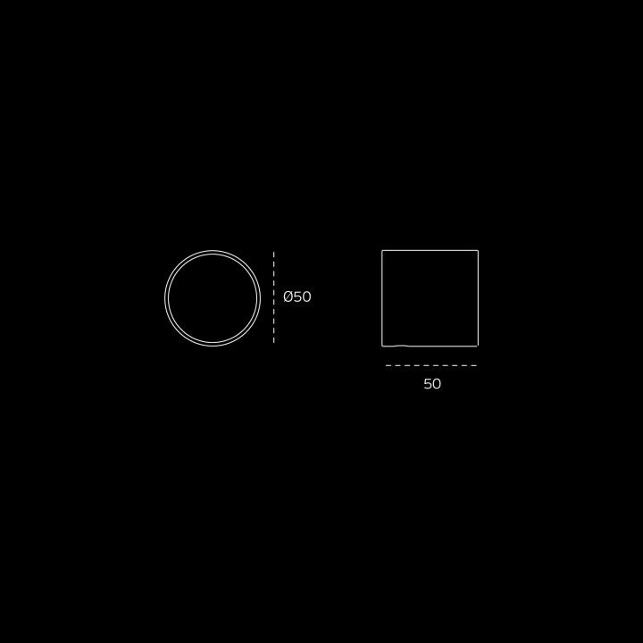 """Puxador de porta fixo """"Loft"""" - Titanium Black"""