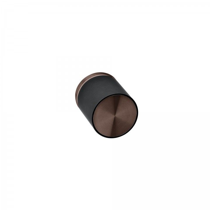 Turning knob Loft with metallic rose RC08M - Titanium Chocolate