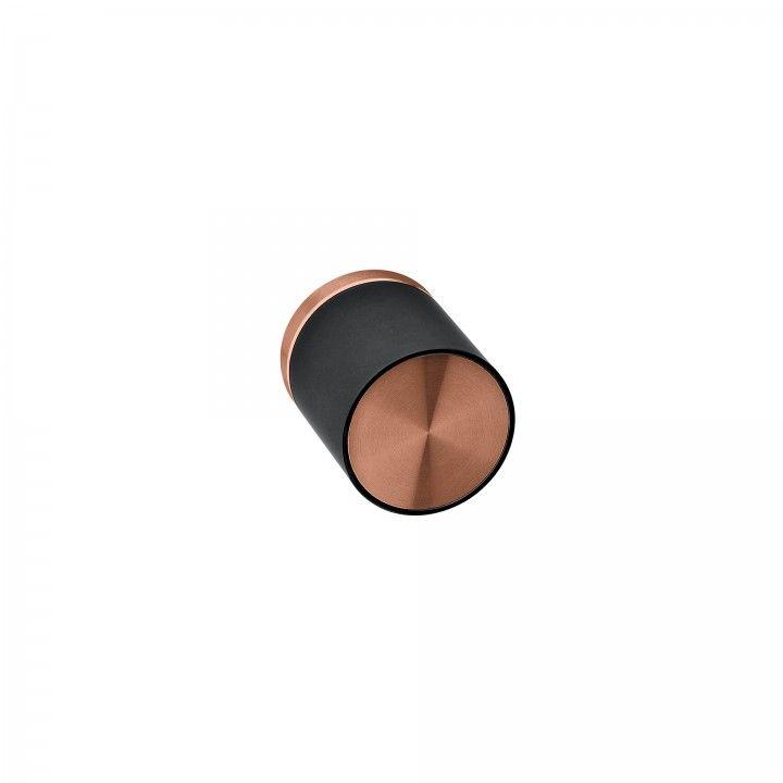Turning knob Loft with metallic rose RC08M - Titanium Copper